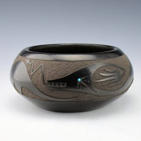 Gonzales, John – Bowl with Avanyu (1995)
