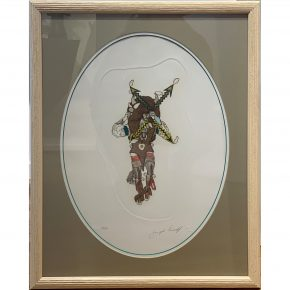 "Lonewolf, Joseph – ""Buffalo Dancer"" Etching, 23/60 (1984)"