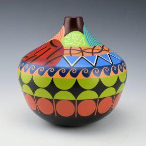 """Namingha, Les – Sun and Rain Kewa Inspired """"Pueblo Series"""" Jar"""