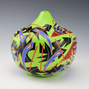 Namingha, Les – Bird Wing Grafitti Style Jar