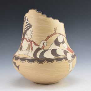 Gutierrez, Lois  – Jar with Koshari Clown and Fish (1992)