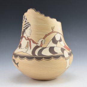 Gutierrez, Lois  – Jar with Koshari Clown and Fish (1992)