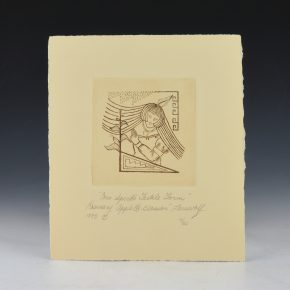"Lonewolf, Rosemary –  ""Corn Spirit's Fertile Form"" Original Etching (1985) 4/60"