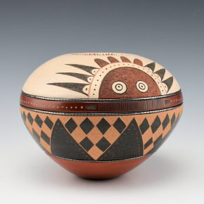 Sanchez, Russell  – Polychrome Bowl with Sun Designs