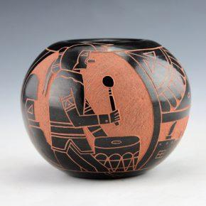 Tapia, Tom – Bowl with Katsina and Corn Designs