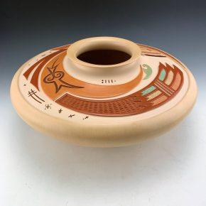Qoyawayma, Al – Large Sikyatki Inspired Polychrome Bowl