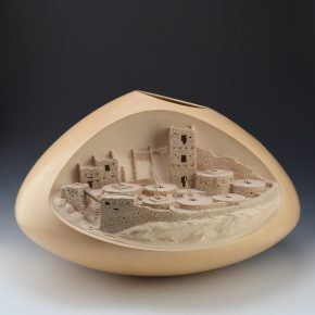 Qoyawayma, Al – Large Mesa Verde Jar with Seven Kivas