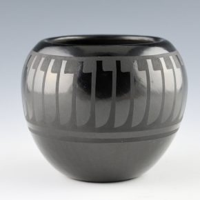 Blue Corn –  Bowl with Feather Pattern (1980s)