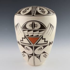Naha, Burel – Seedpot with Awatovi Spider and Star Design