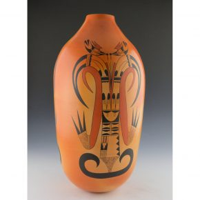 Clashin, Debbie – 16″ Tall Jar with Koshari Figures and Birds