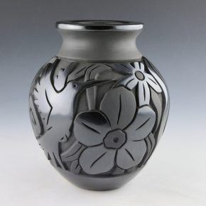 Begay, Jr., Harrison – Jar with Hummingbird, Flowers and Dragonfly