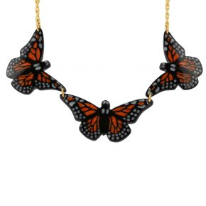 Pourier, Kevin – Buffalo Horn Three Monarch Butterfly Necklace