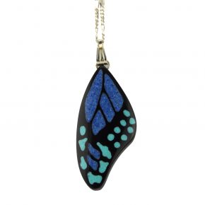 Pourier, Kevin – Buffalo Horn Monarch Butterfly Wing Pendant