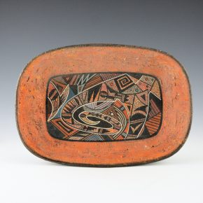 Namingha, Les – Oval Bowl with Hopi Birds (2004)