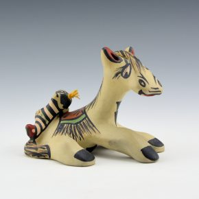 Gutierrez, Margaret – Polychrome Horse and Koshari Figure (1990's)
