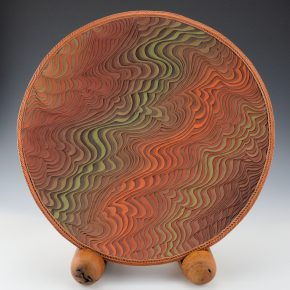 Zane Smith, Richard – Corrugated Plate with Stand (2006)