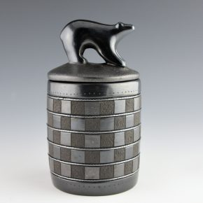 Sanchez, Russell  – Box with Checkerboard Design & Bear Lid