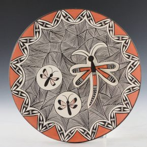 Lewis, Sharon – Plate with Dragonflies