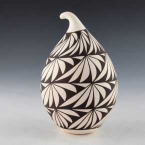 Lewis, Sharon – Gourd Jar with Feather Designs