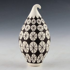 Lewis, Sharon – Gourd Jar with Star Designs