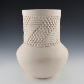 Shutiva, Stella – Long Neck Jar with Corrugated Design