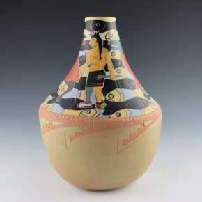 "Folwell, Susan – ""Pueblo Politics"" Long Neck Jar"
