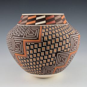 Antonio, Frederica – Polychrome Jar with Flower Designs
