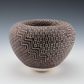 Antonio, Frederica – Infinity Rim Bowl with Rain and Corn Designs