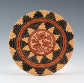 Medicine Flower, Grace – Basket Weave Double Sided Plate (2001)