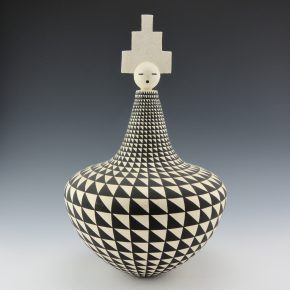 Trancosa, Kevin – Large Jar with Geometrics and Lid (1997)