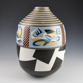 Namingha, Les – Tall Jar with Minimalist Hopi Birds