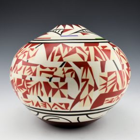 "Namingha, Les – ""Geometric"" Layered Design Jar (Pueblo Series)"