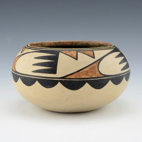 "Martinez, Maria – Polychrome Bowl with Cloud Designs, ""Marie"" (1920's)"