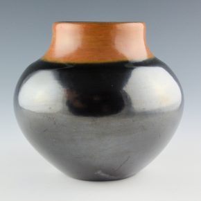 "Martinez, Maria – Black-and-Sienna Gunmetal Jar ""Maria Poveka"", 1964-5"