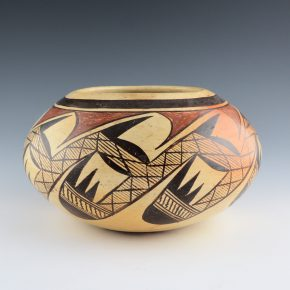 Koopee, Marie Nampeyo – Large Bowl with Bird Wing Design (1960's)