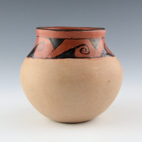 Juan, Mary – Red & Tan Jar with Cloud Designs (1960's)