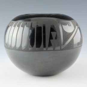 Martinez, Pauline – Bowl with Feather and Rain Patterns