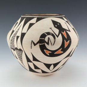 Garcia, Sarah – Bowl with Mimbres Lizards (1970's)