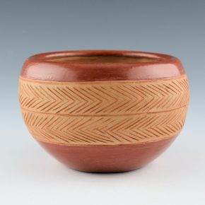 Montoya, Tomasita – Incised Bowl with Rain Designs (1960's)
