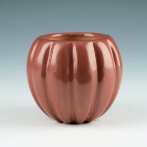 Tafoya, LuAnn – Mini Red 12 Rib Melon Jar