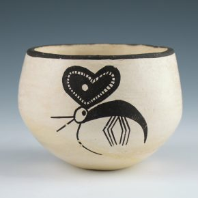 Lewis, Lucy – Bowl with Quail and Butterfly (1970's)