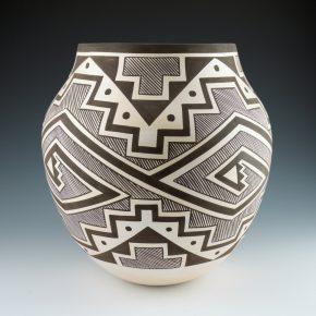 Sarracino, Myron – Large Jar with Rain and Cloud Designs