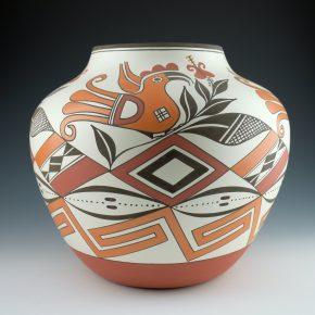 Patricio, Robert – Large Jar with Birds and Geometric Designs