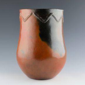 Williams, Rose – Large Drum Jar with Mountain Design Rim