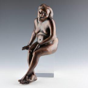 Swentzell, Roxanne – Sitting Girl Bronze (Artist Proof 2)