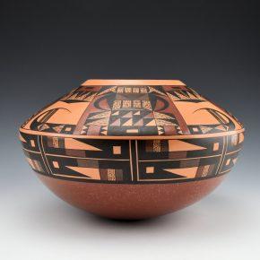 Lucas, Steve – Jar with Hopi Eagle Tail Designs